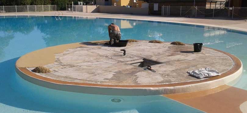 revêtement pour plage de piscine