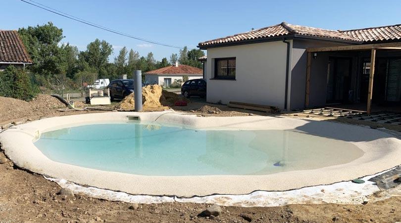 création plage piscine