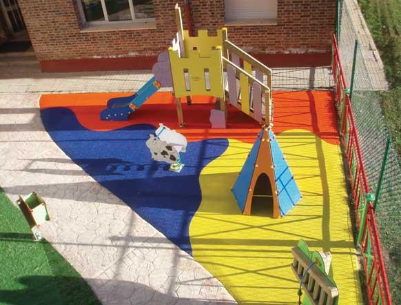 revêtement de sol aires de jeux