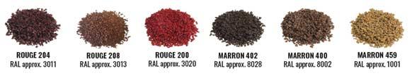 coloris granulat ESBR