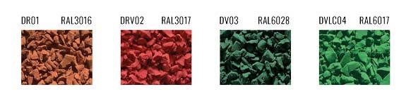 coloris revêtement de sol EPDM