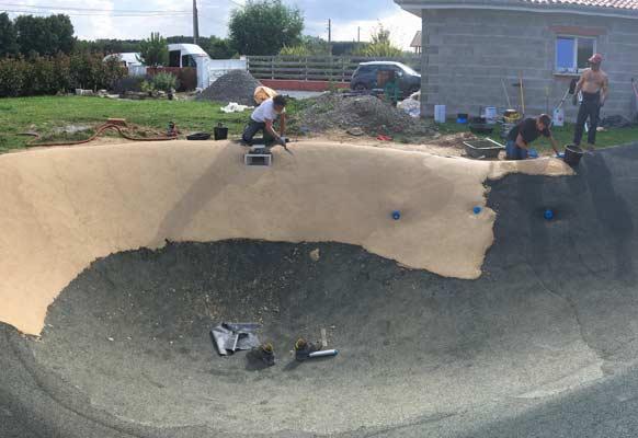 installation kit bassin lagon