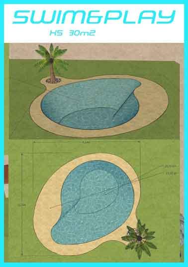 piscine lagon caoutchouc